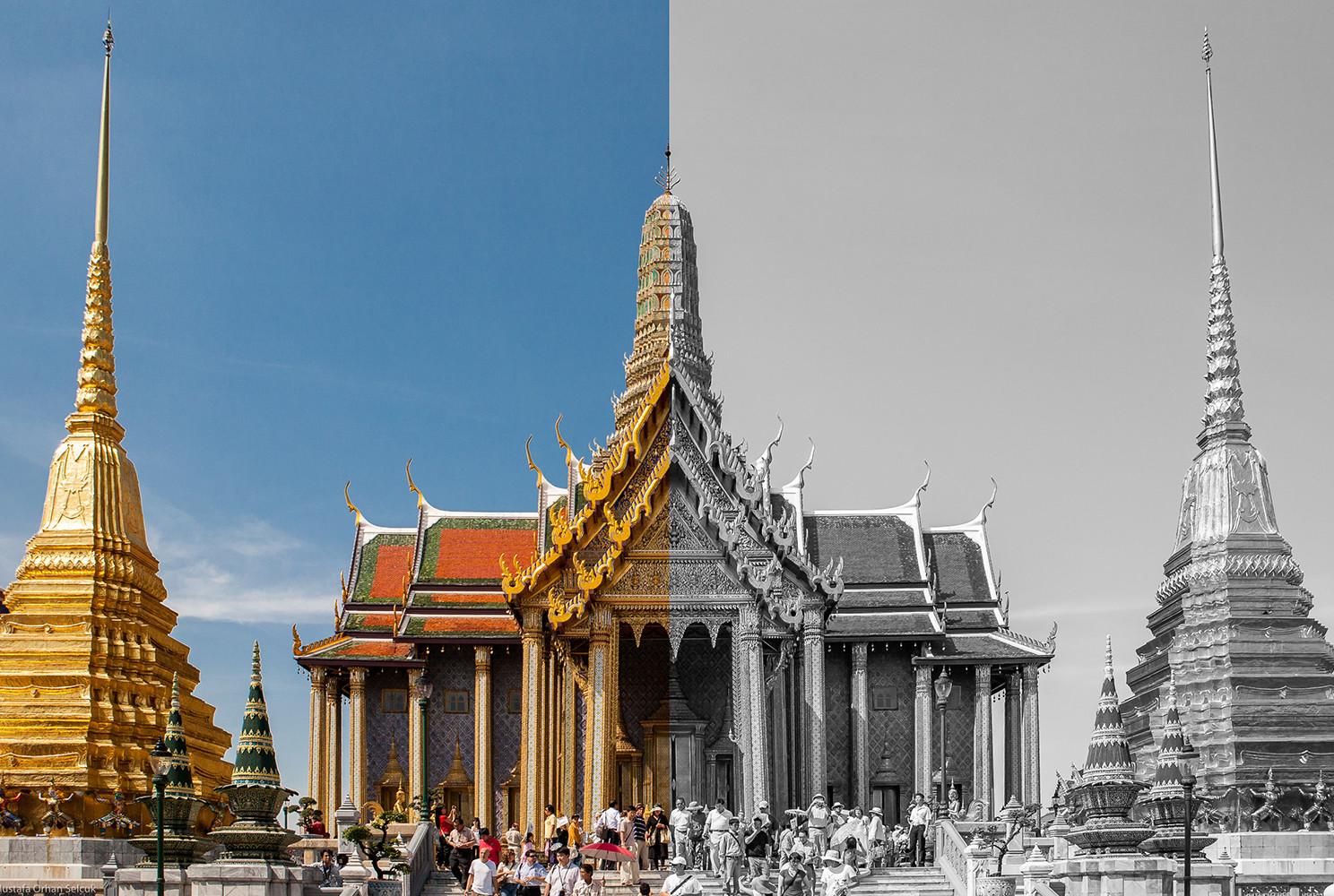 Bangkok Siyah Beyaz Renkli